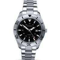 Gents Sekonda Stainless Steel Bracelet With Black Dial Model 3402