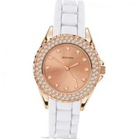 Party Time by Sekonda white silicon with Rose Gold stone set case 4653