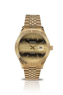 Sekonda Quartz with Gold Dial Analogue Display and Gold Stainless Steel Bracelet 3330.27