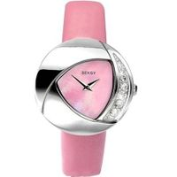 Ladies Eclipse Stone Set Pink Leather 4528