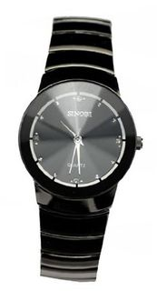 SINOBI Quartz All Black Stainless Steel Black Dial #9139