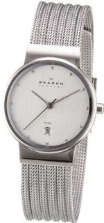 Skagen 355SSS1 Steel Collection Patterned Mesh Stainless Steel