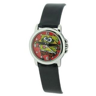 Spongebob Squarepants Black Strap Quartz