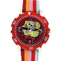 Spongebob Squarepants Childrens Red Dial Red Striped Strap Quartz SB20