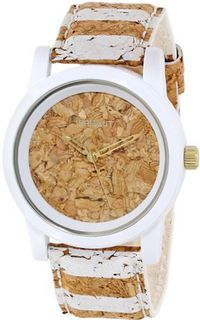 Sprout ST/5521CKWT Cork Dial and White Striped Strap