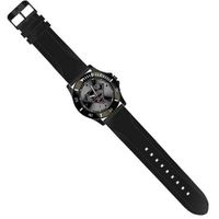 Superman Black Logo with Black Silicon Strap (SUP9032)