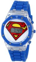 Superman Kids' SUP4014 Analog Display Analog Quartz Blue
