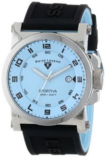 Swiss Legend 40030-012 Sportiva Reversible Light Blue Silicone