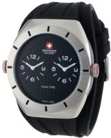 Swiss Military Calibre 06-4C1-04-007R Commando Dual Time Zone Luminous Black Dial Rubber