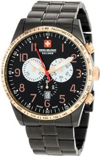 Swiss Military Calibre 06-5R4-13-007.9 Red Star Rose Gold IP Bezel Chronograph Steel Date