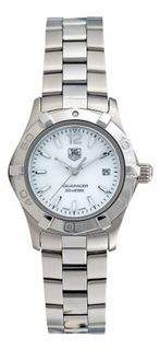 TAG Heuer WAF1414.BA0823 Aquaracer Stainless Steel Mother-of-Pearl Dial