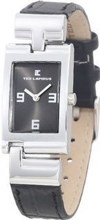 Ted Lapidus D0454RNAN Charcoal Dial Black Leather