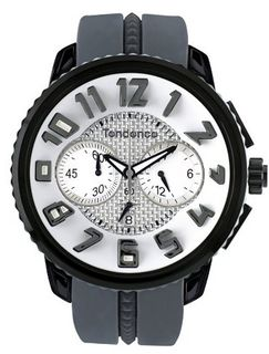 Tendence Unisex Mystery Gulliver Chronograph in Grey and Silver