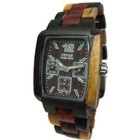 Tense All Wood Jumbo Inlaid Tri Color Triple Window Dark Dial J8302IDM DM