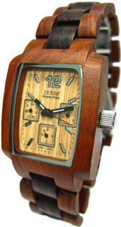Tense Wood 2-Tone Dark Light Sandalwood 3 Dial J8302SD LF