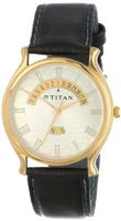 Titan 1482YL01 Classique Gold Tone Day and Date Function