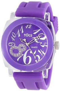 Tocs 40117 Analog Round Plum Purple