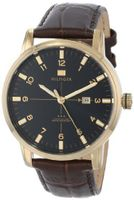 Tommy Hilfiger 1710329 Gold-Plated with Brown Leather Strap