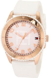 Tommy Hilfiger 1781121 Sport Rose Gold Toned White Silicon