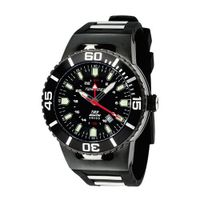 Torgoen Analog Quartz with Black Dial and Rubber Strap - T23305