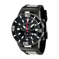 Torgoen Analog Quartz with Black Dial and Rubber Strap - T24305