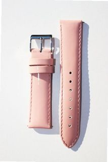 18mm PINK Patent Leather band with Quick Release Pins Michele Style