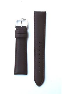 20mm Classic Brown Italian Calfskin Leather band with S/S Buckle.