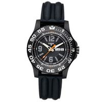 Black Stainless Steel Extreme Sport Diver Black Dial Silicone Strap