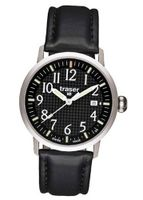 Traser Classic Basic with Leather Strap - Black
