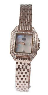 New Diamond Ladies Rose Gold Dress Mother of Pearl