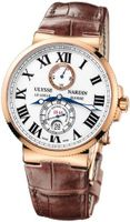 MENS ULYSSE NARDIN MARINE CHRONOMETER 18K ROSE GOLD 43MM WATCH 266-67/40
