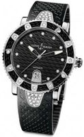 NEW LADIES ULYSSE NARDIN MARINE DIAMONDS BLACK SS WATCH 8103-101E-3C/12