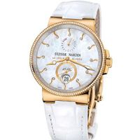New Ladies Ulysse Nardin Maxi Marine Diver Chronometer Solid 18K Rose Gold Diamonds 266-66B/991