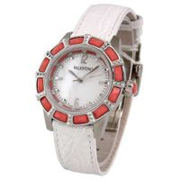 VALENTINO EDEN Swiss All Stainless Steel & Coral Mother Pearl Dial Crocodile Strap V54SBQ99701 S001