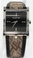 Valentino es Monogram Leather in Black, Silver Tone & Taupe - V62MBQ9909S009