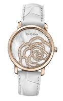 Valentino V41SBQ5091SSA01 Rose Gold-Plated Diamond White Crocodile Leather