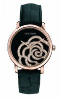 Valentino V41SBQ5099SSA09 Rose Gold-Plated Diamond Black Crocodile Leather