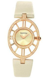 Valentino Vanity Rose Gold Plated Steel & Diamond Fashion Strap V42SBQ5103-FS601