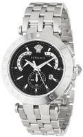 Versace 23C99D008 S099 V-Race Stainless-Steel Black Dial Chronograph