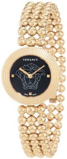 Versace 94Q80D008 S080 Eon Soire Gold IP Black Dial Sapphire Crystal Sphere Stainless Steel bracelet