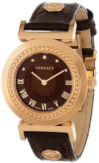 Versace P5Q80D598 S497 Vanity Rose Gold Ion-Plated Stainless Steel Brown Sunray Dial