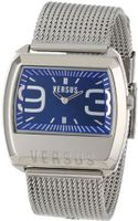 Versus by Versace 3C61100000 Angle Stainless Steel Rectangular Blue Dial