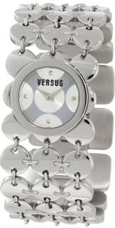 Versus by Versace 3C69300000 Paillettes Stainless Steel Silver Dial Bracelet