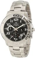 Viceroy 40325-55 Black Dial Steel Chronograph