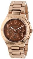 Viceroy 40708-45 Visept12 Rose Gold Ion-Plated Stainless Steel Luminous Hands Brown Sunray Dial