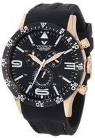 Viceroy 432047-99 Fun Colors Rose Gold IP Chronograph Luminous Hands Black Soft Rubber Date