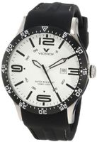 Viceroy 432049-05 White Dial Black Rubber Date