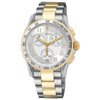 uVictorinox Swiss Army Classic Two Tone Silver Dial - V241509