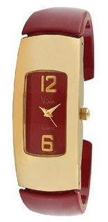 Viva Gold-Tone Red Cuff #V1144RD