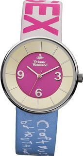 Vivienne Westwood Spirit II Quartz with Multicolour Dial Analogue Display and Multicolour Leather Strap VV020PKLBL